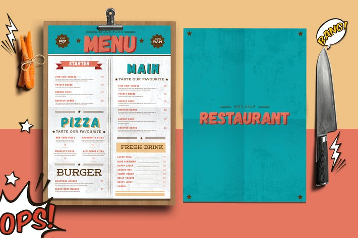 Thumbnail for Retro Menu Flyer
