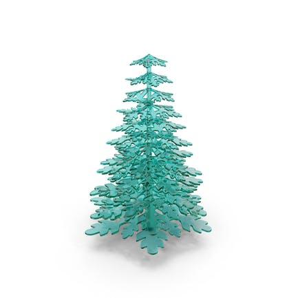 Stylized Snowflake Glass Tree