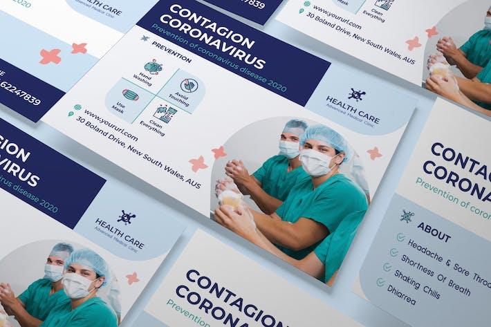 Thumbnail for Coronavirus medical A5 Flyer