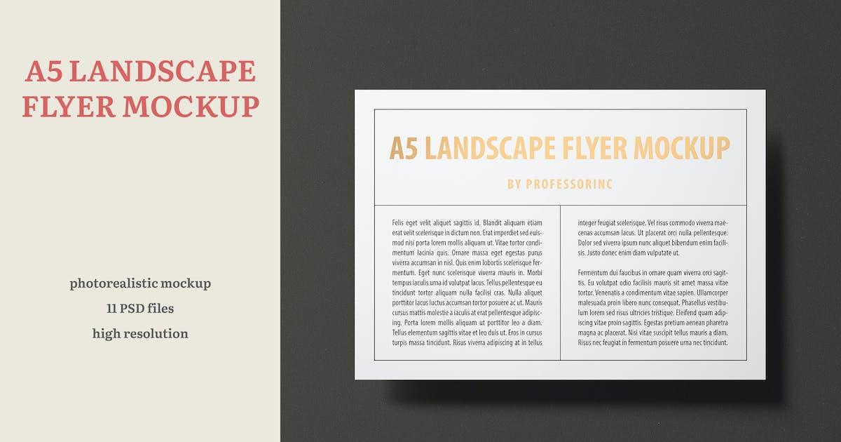 Download A5 Landscape Flyer Mockup — Foil Stamping Edition by professorinc