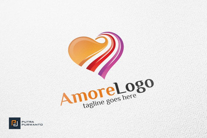 Cover Image For Amore / Heart - Logo Template