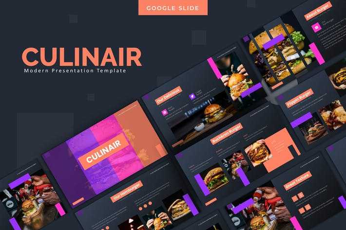 Thumbnail for Culinair -  Google Slides Template