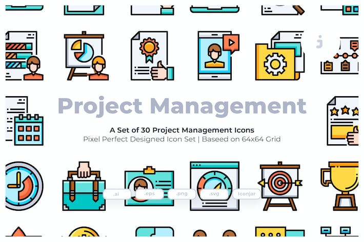 Thumbnail for 30 Project Management Icons