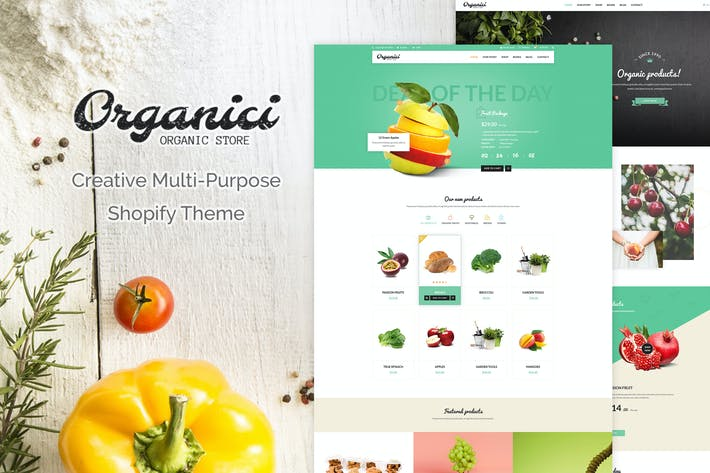 Thumbnail for Organici | Creative Multiusos Shopify Tema