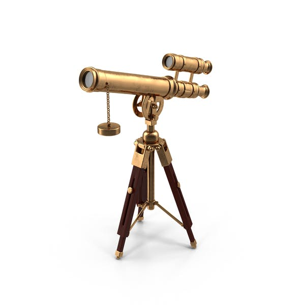 Cartoon Antique Telescope