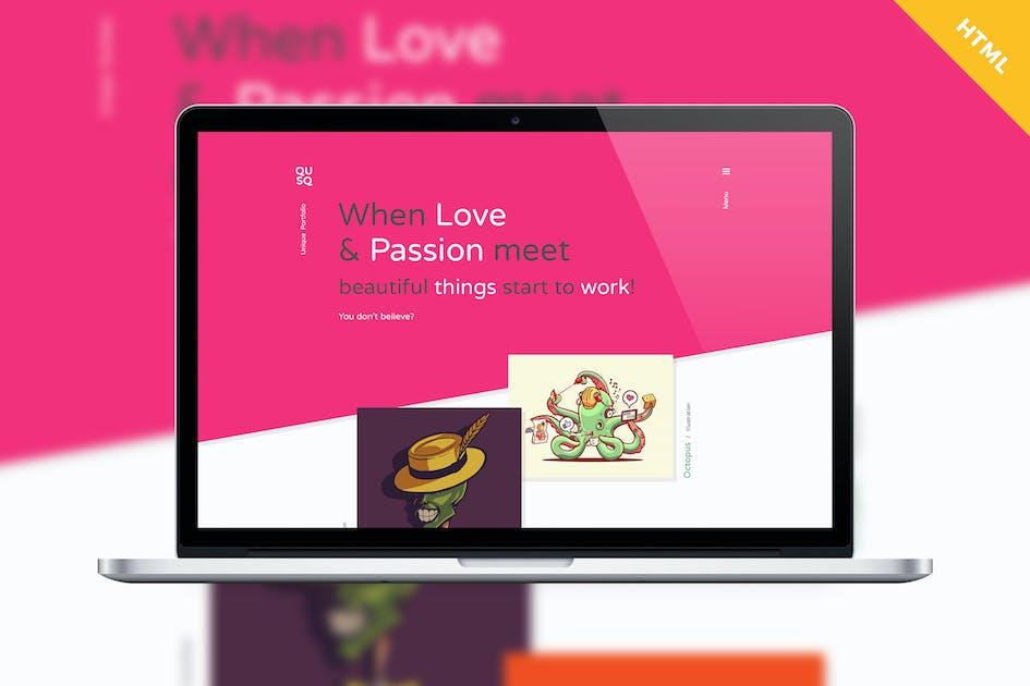 Download Qusq HTML - Colorful Unique Portfolio by IshYoBoy