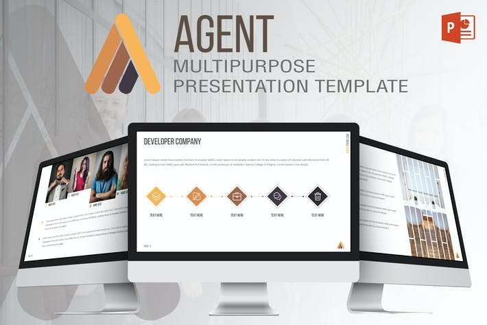 Thumbnail for Agent - Powerpoint Template