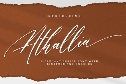 Athallia - Роскошный шрифт