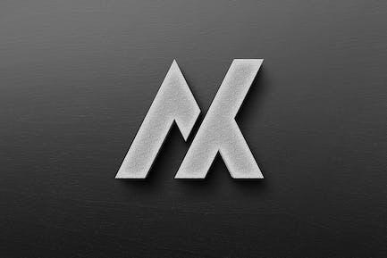 Реалистичный бетон сплошной Логотип макет