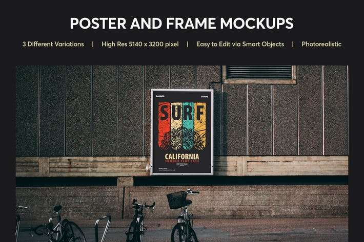 Thumbnail for Poster and Frame Mockup Vol 01