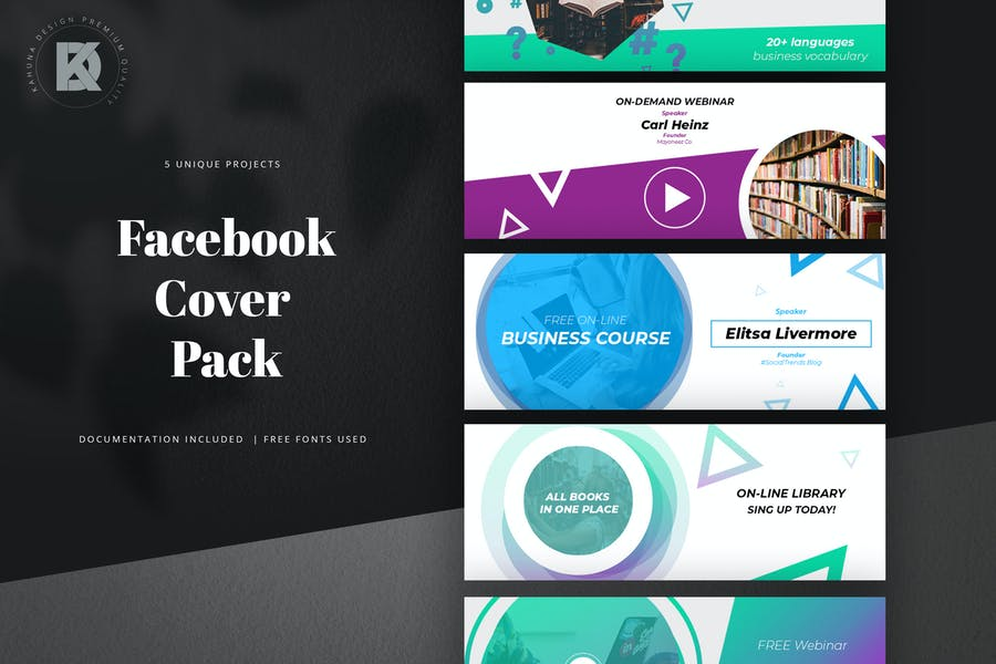 Online Course Facebook Cover Pack