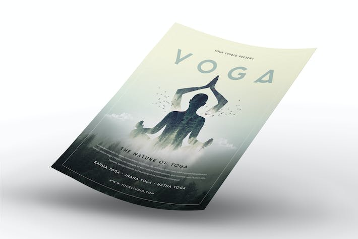 Cover Image For Yoga Flyer Template