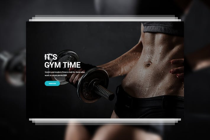 Thumbnail for Fitness - GYM PSD Template