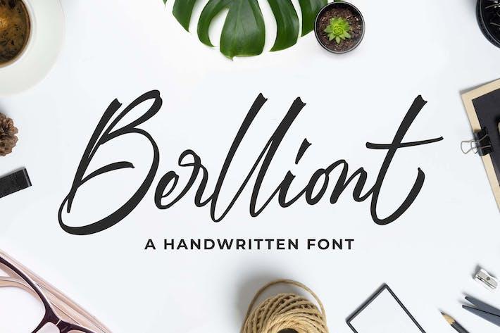 Thumbnail for Berlliont a Handwitting Font