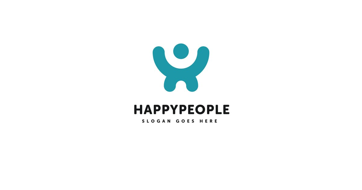Download Happy People Logo Vector Template by Pixasquare