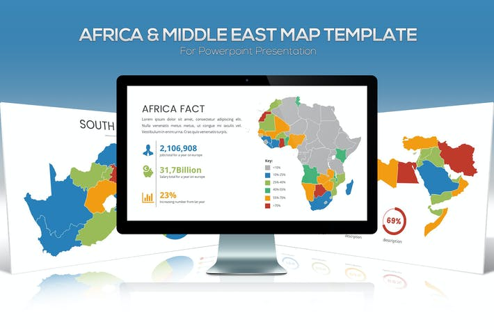 Cover Image For Africa & Middle East Maps for Powerpoint