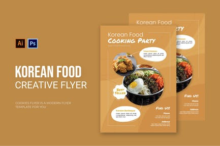 Korean Food - Flyer