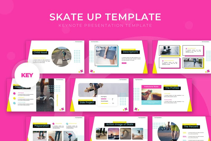 Thumbnail for Скейт вверх! - Шаблон Keynote