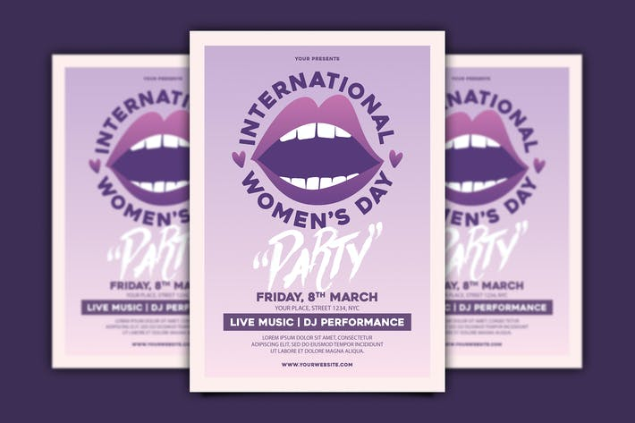 Cover Image For International Women's Day Flyer