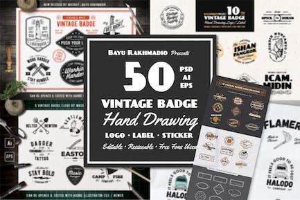 50 Vintage Badges
