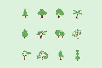 12 Tree & Foliage Icons