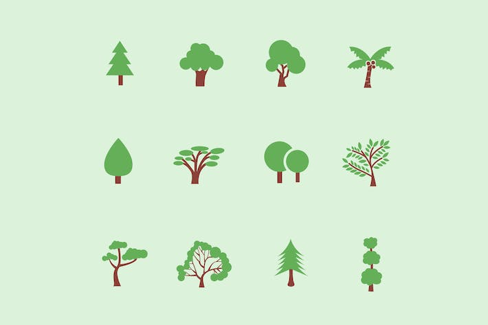 Thumbnail for 12 Tree & Foliage Icons