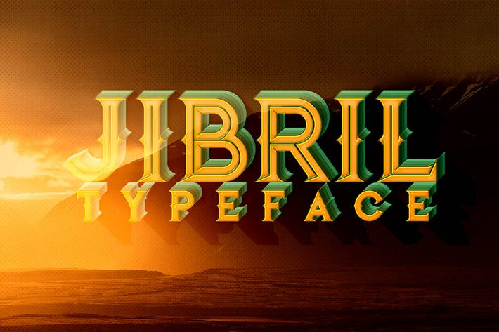 Thumbnail for Jibril - Vintage Style Font