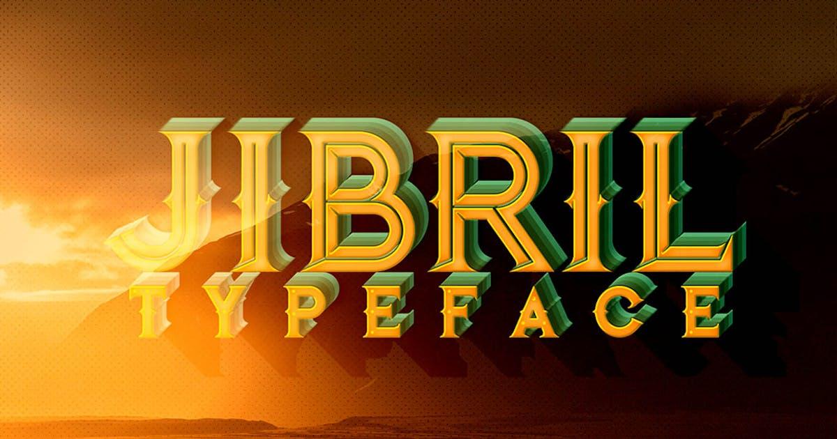 Download Jibril - Vintage Style Font by cruzine