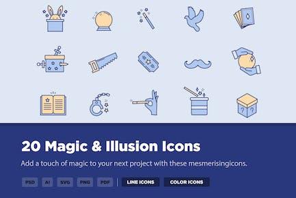 20 Magic & Illusion Icons