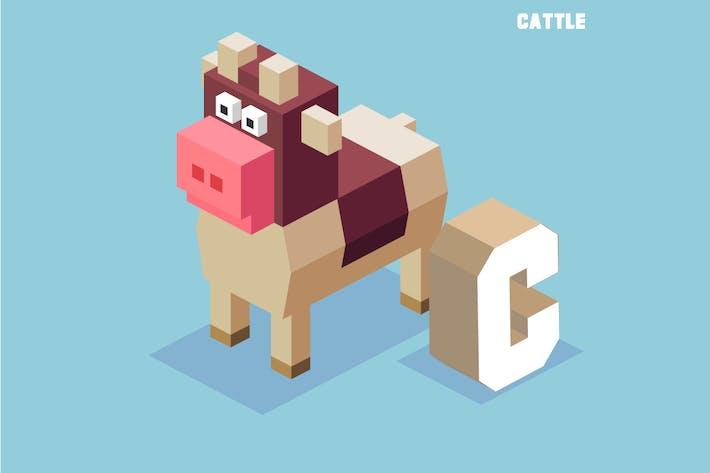 Thumbnail for C für Rinder. Tier-Alphabet