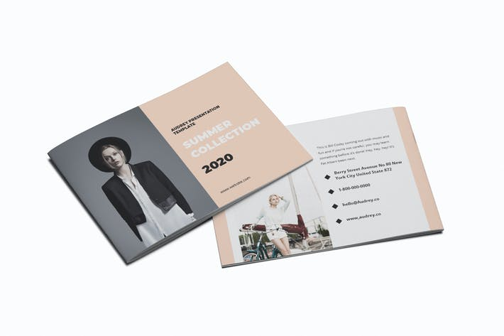 Thumbnail for Lookbook A5 Brochure Template