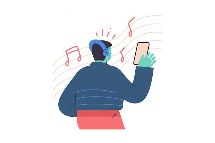 Thumbnail for Music Flat Illustration