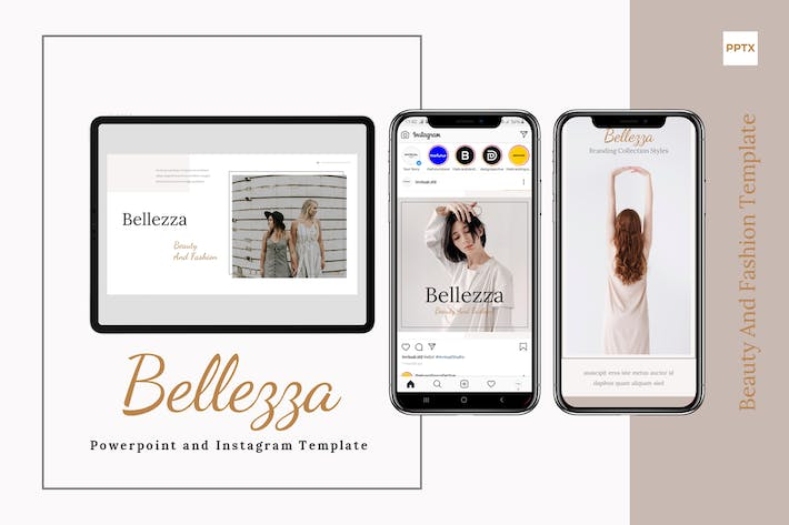 Cover Image For Belezza - Шаблон Powerpoint & Instagram