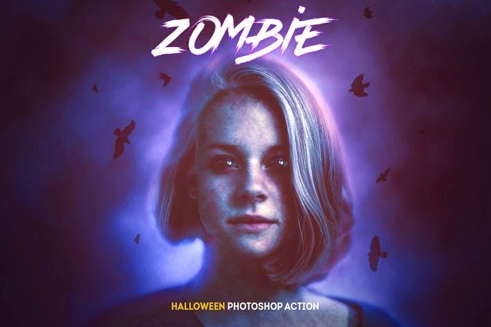 Thumbnail for Zombie - Halloween Photoshop Action