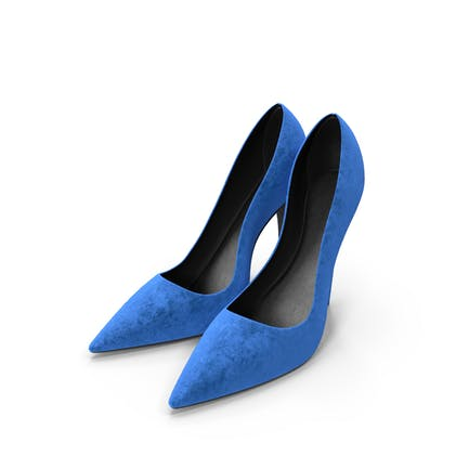 Womens Shoes Suede Blue