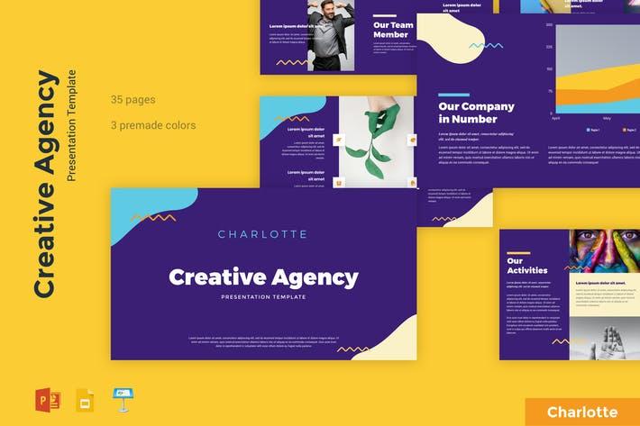 Thumbnail for Charlotte - Creative Agency Presentation Template