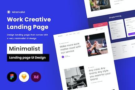 Целевая страница для творческой работы - Sqtemp