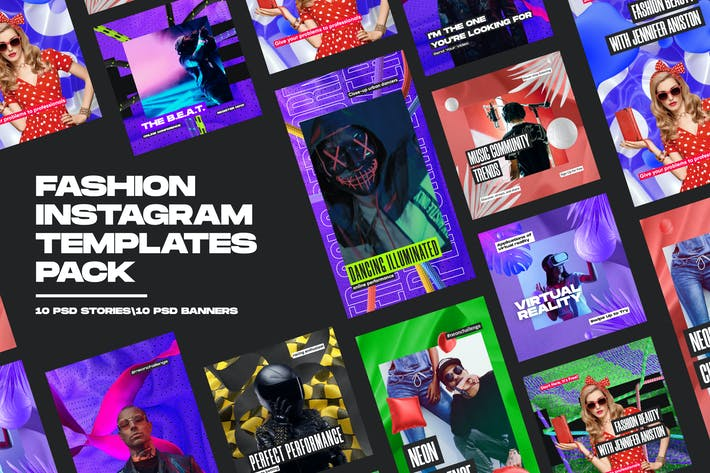 Thumbnail for Fashion Instagram Templates Pack