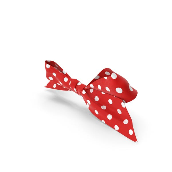 Bow with White Dot Pattern