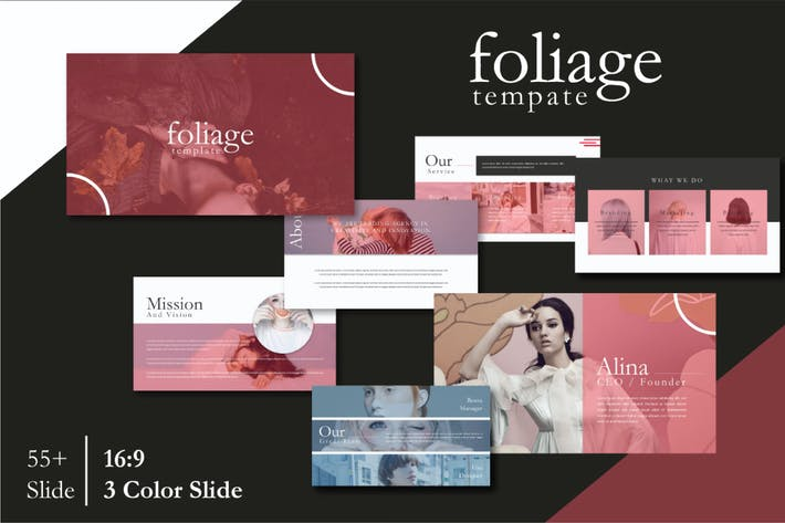 Thumbnail for Foliage Powerpoint Template