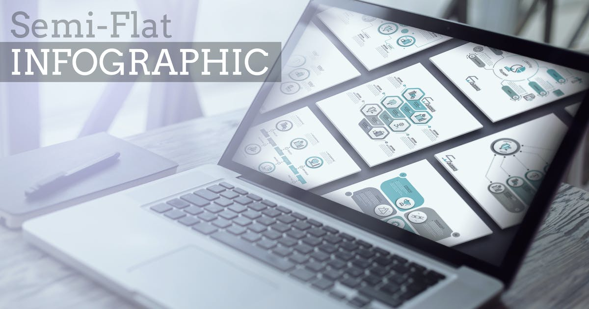 Download 32 Semi-Flat Infographics by Andrew_Kras