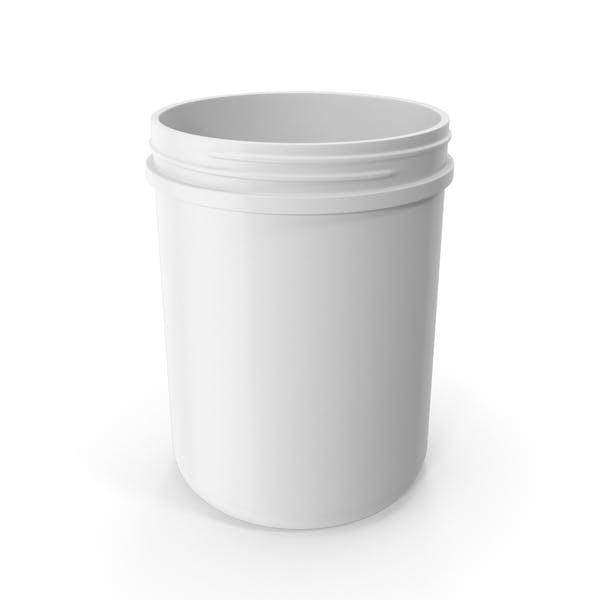 Plastic Jar Wide Mouth Straight Sided 60oz Without Cap White