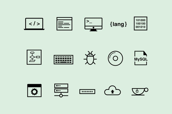 Thumbnail for 15 Coding Icons