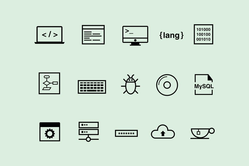 Download 15 Coding Icons by creativevip