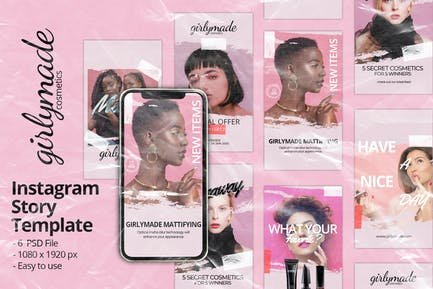 Girly Instagram Story Template