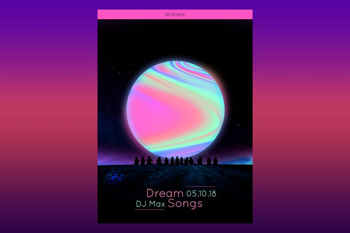 Thumbnail for Dream Songs Flyer Poster