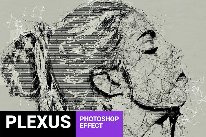 Thumbnail for Skeletum - Plexus Art Photoshop Action