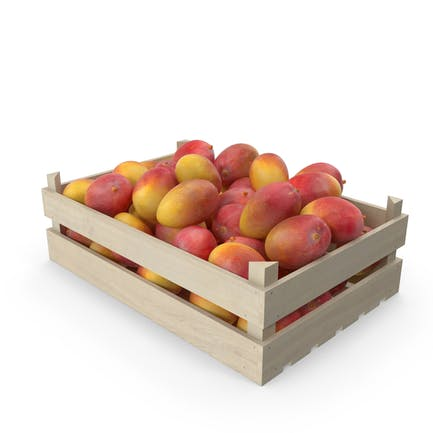 Wooden Yellow Mango Crate