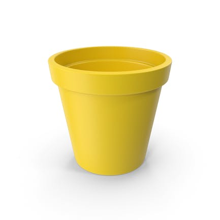 Ceramic Pot Yellow