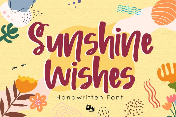 Thumbnail for Sunshine Wishes - Handwritten Font